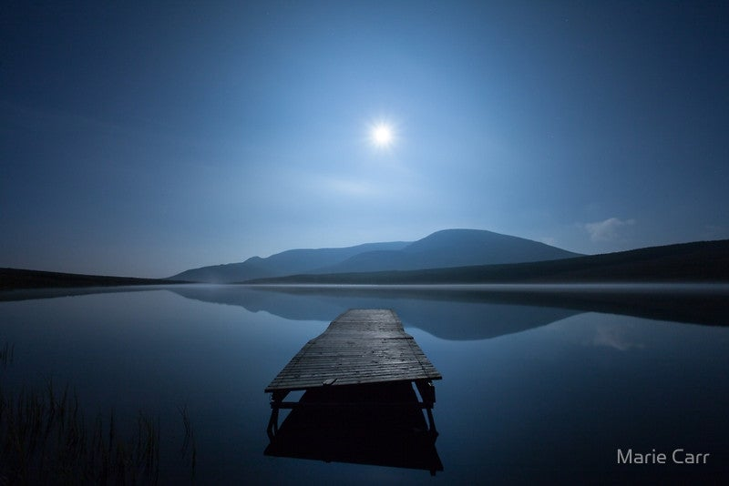 Image of Full Moon over Lough Aubha in Glencolmcille