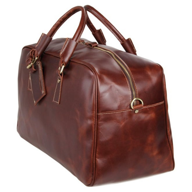 Image Of Men S Large Handmade Leather Duffle Bag Travel Weekend Gym
