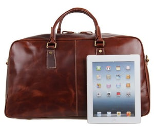 Image of Men's Large Handmade Leather Duffle Bag / Travel Bag / Weekend Bag / Gym Bag (n93L)