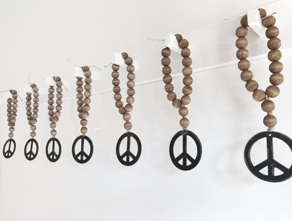 Image of MINI LOVE BEADS - BROWN PEACE