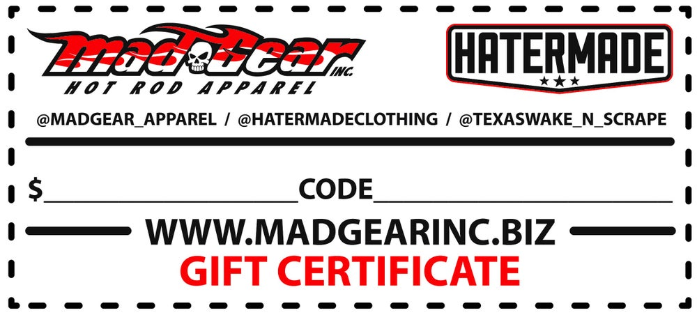 Image of GIFT CERTIFICATES $20-$500
