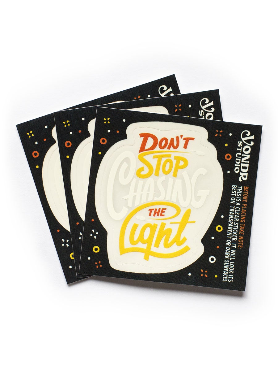 Image of Chasing The Light - Sticker Pack