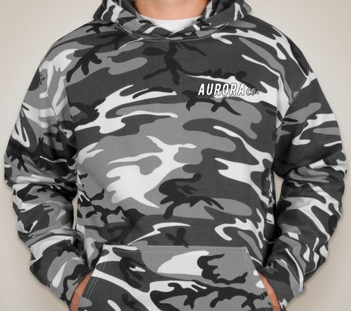 Aurora & Code 5 Camo Pullover Hoodie