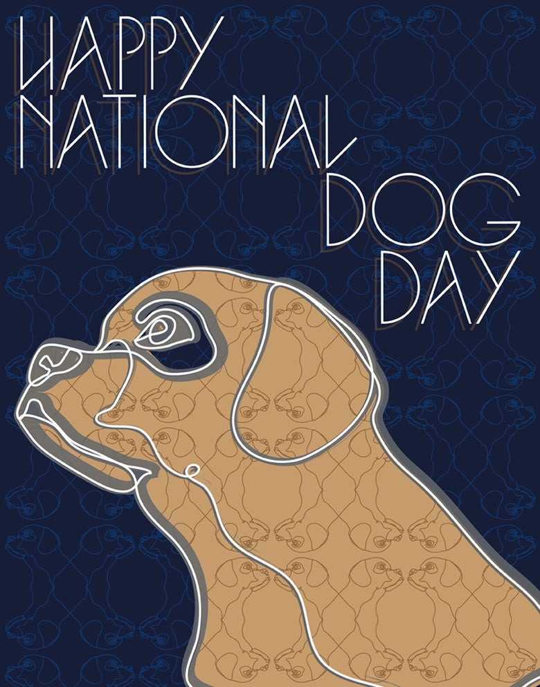 Image of National Dog Day Poster
