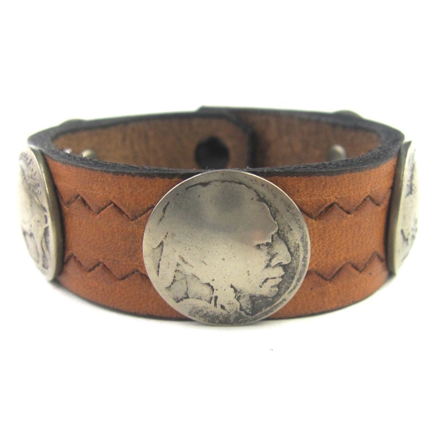 Image of Buffalo Coin Cuff (Tan)