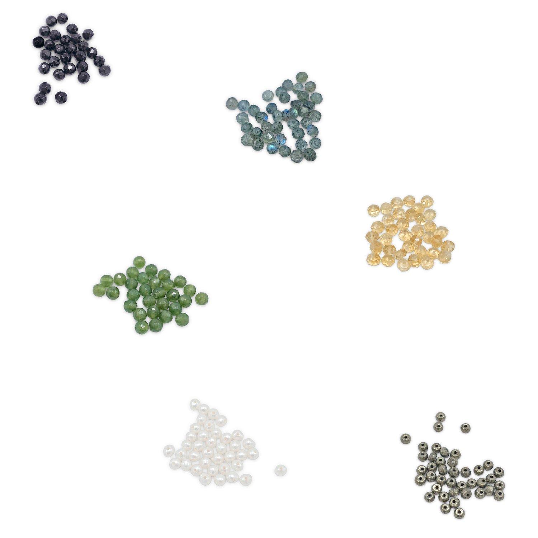 Image of Jump-Ring & Bead Hoop Earrings