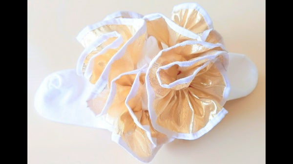Image of 14K Gold Ruffle Socks
