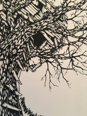 Image of Treehouse Moon art print
