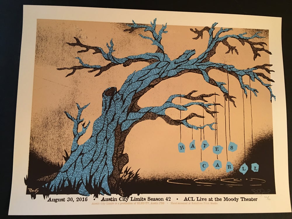 Image of Hayes Carll - Official gig poster for Austin City Limits, 2016