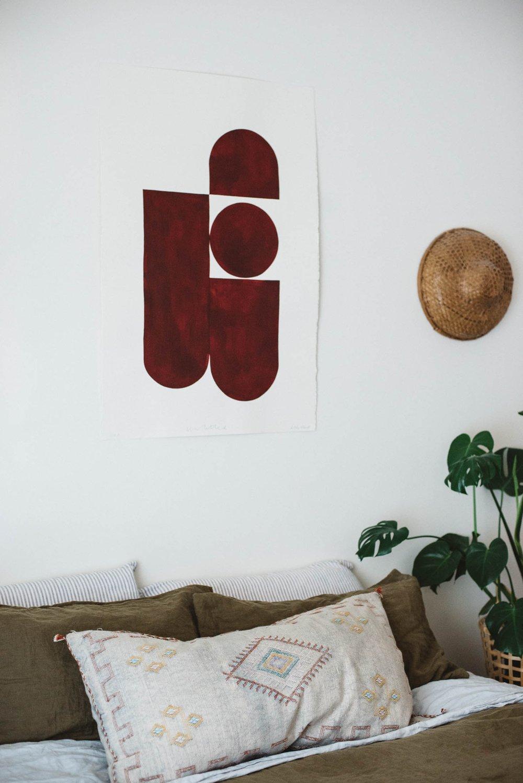 Image of 'Untitled' Burgundy