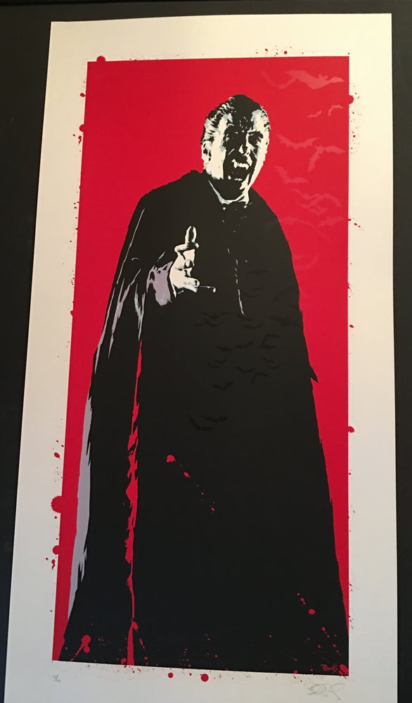 "Image of ""Prince of Darkness"" - Christopher Lee Dracula art print"