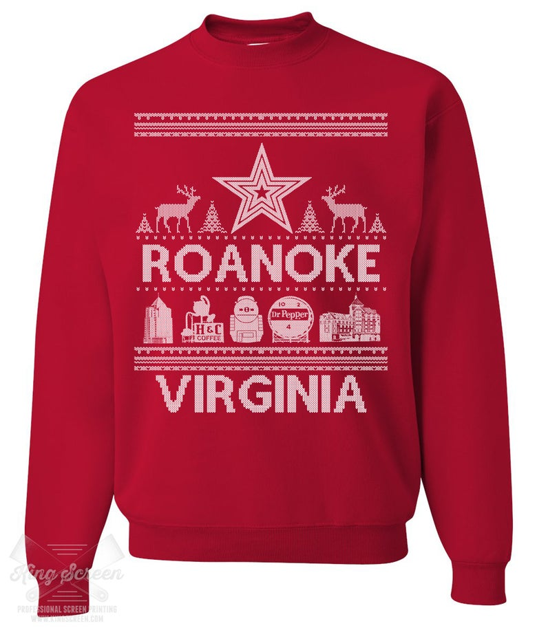 Image of ROANOKE VA HOLIDAY SWEATER