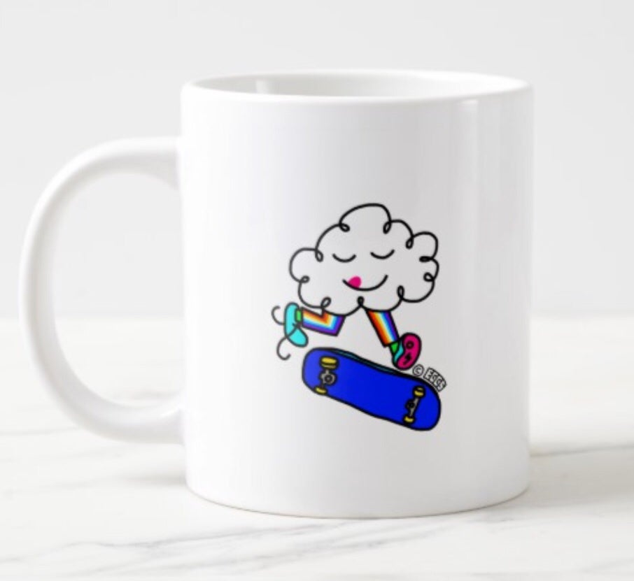 Skate Cloud Mug