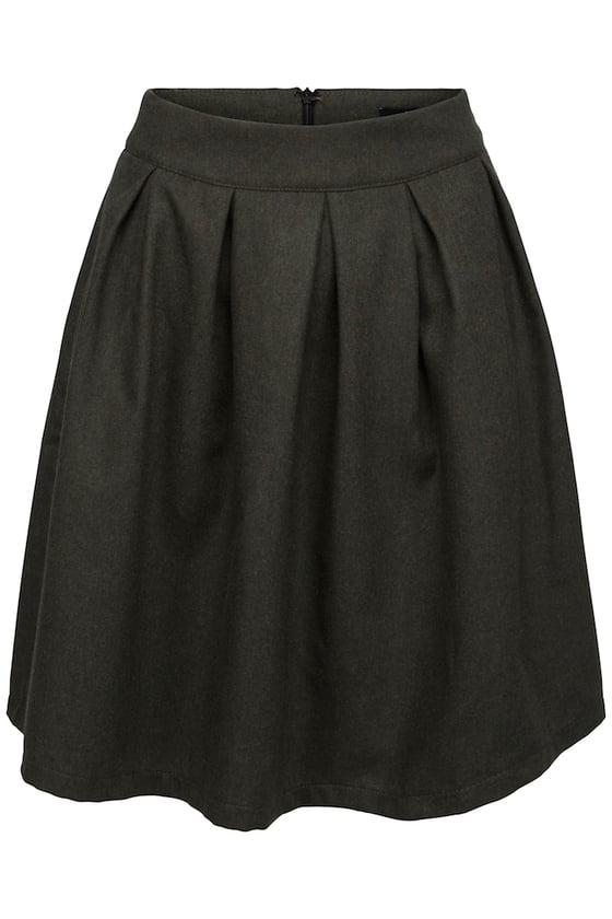 Image of Grøn uld nederdel