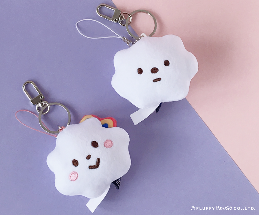Image of Cloudy Plush Keychain