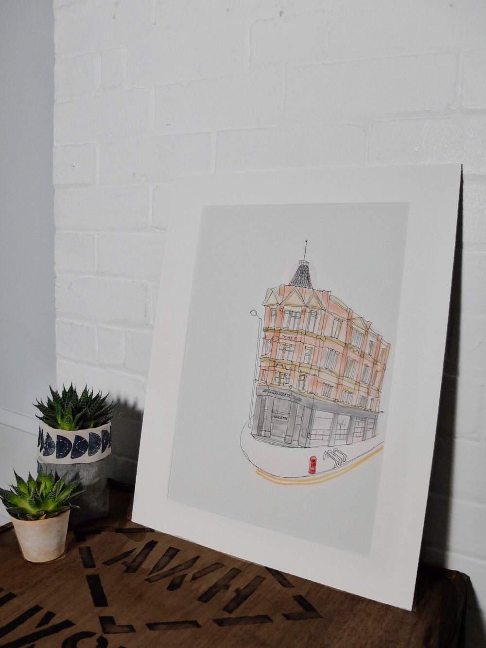 Image of The Cornerhouse, Manchester. A3 Individually hand painted limited edition print.