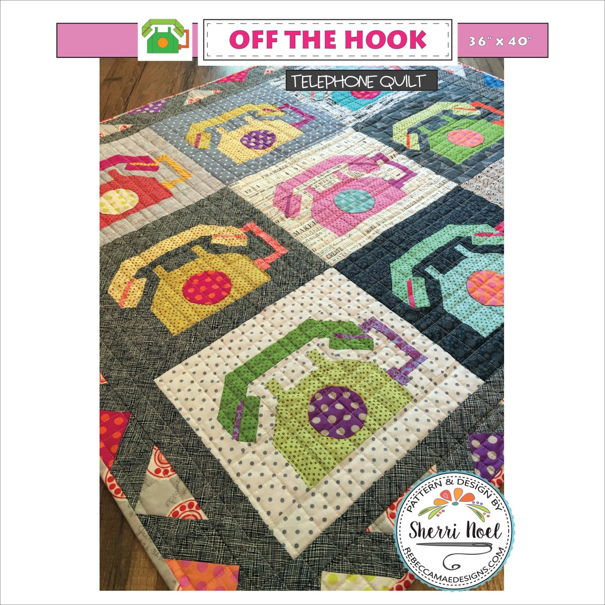 Off The Hook Phone Quilt Patterns By Rebecca Mae Designs