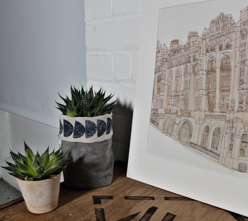 Image of The Midland hotel, Manchester. A3 Individually hand painted, limited edition print.