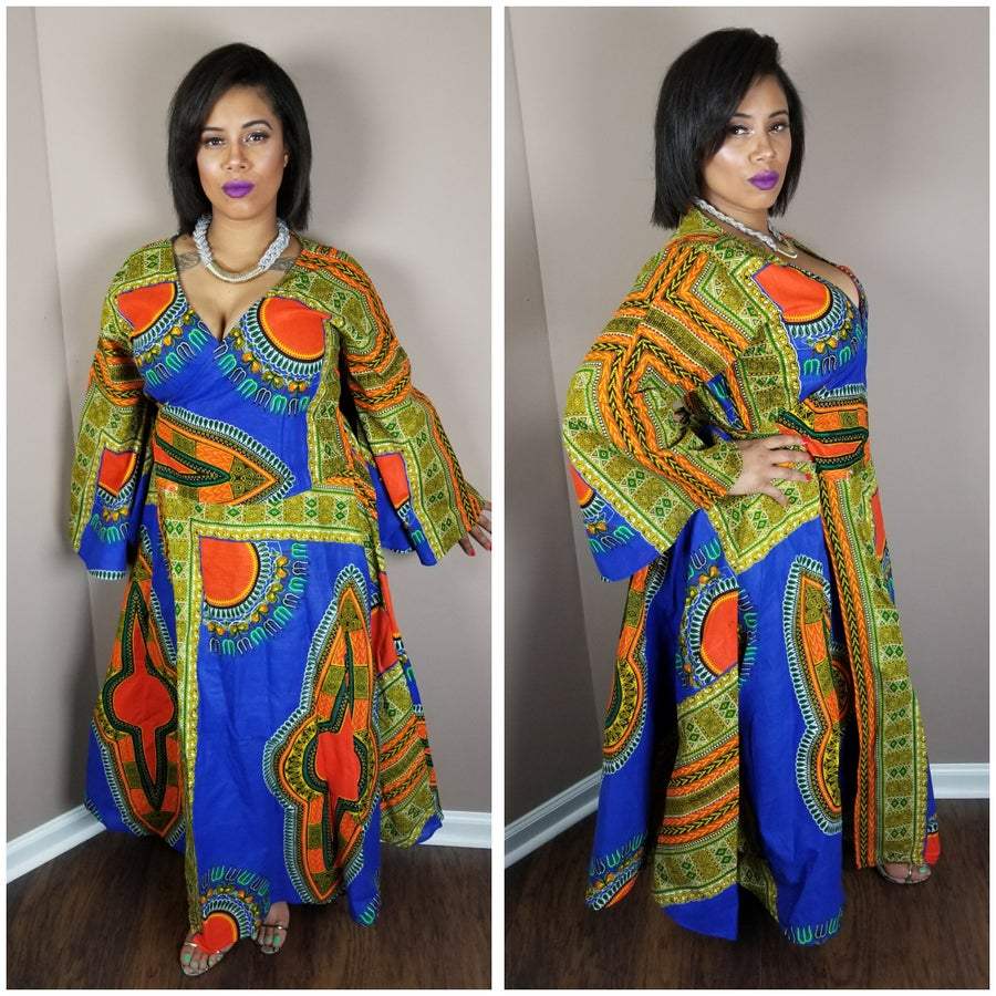Image of Dashiki wrap dress 65.00