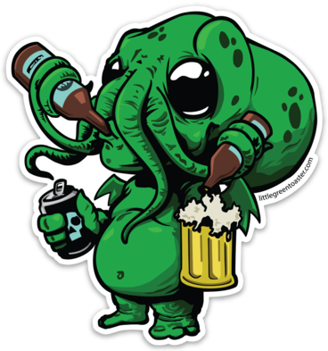 Image of Cthulhu Beer Monster Sticker