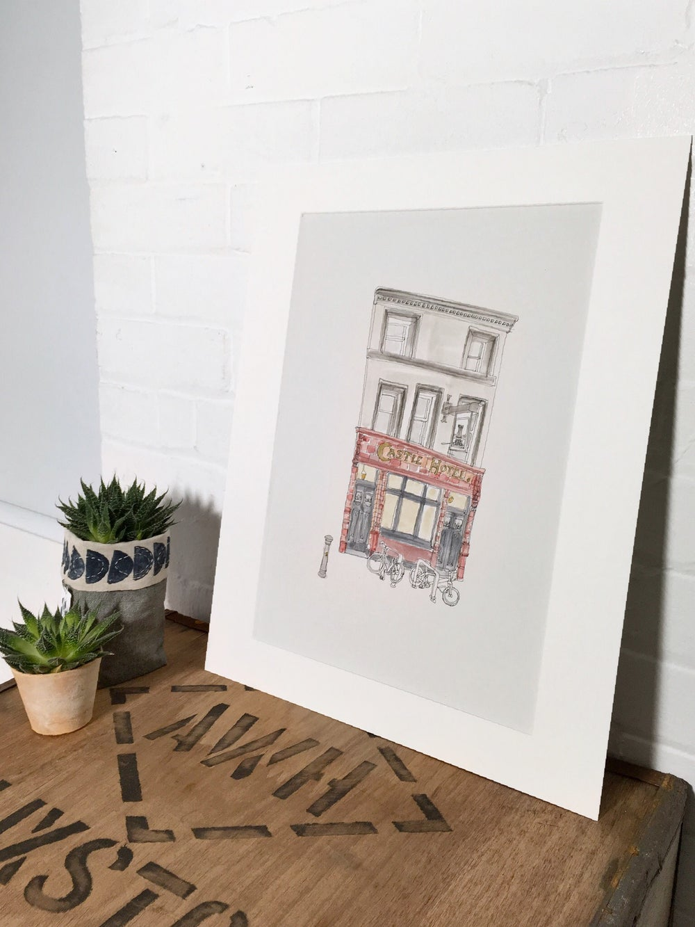 Image of The Castle Hotel, Manchester. A3 Individually hand painted, limited edition print.