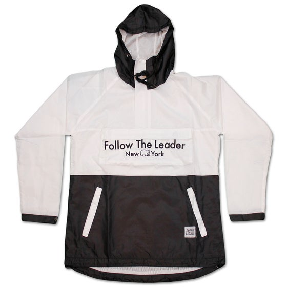 Image of New York Streets Anorak Jacket (White/Black)