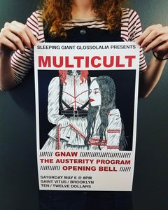 Image of Multicult, Gnaw, Opening Bell, The Austerity Program - show poster