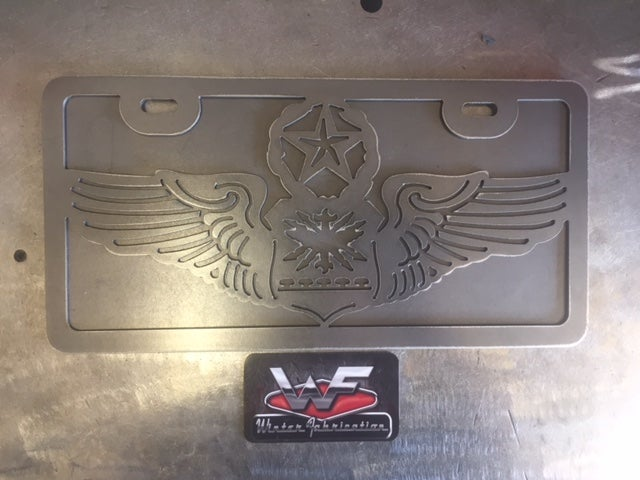 Image of US Air Force Master Navigator Wings - License Plate