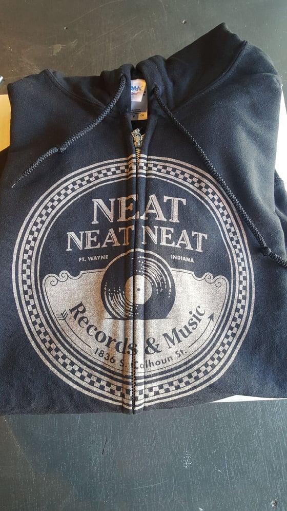 Image of Neat Neat Neat Zip Up Hoodie - Classic Black