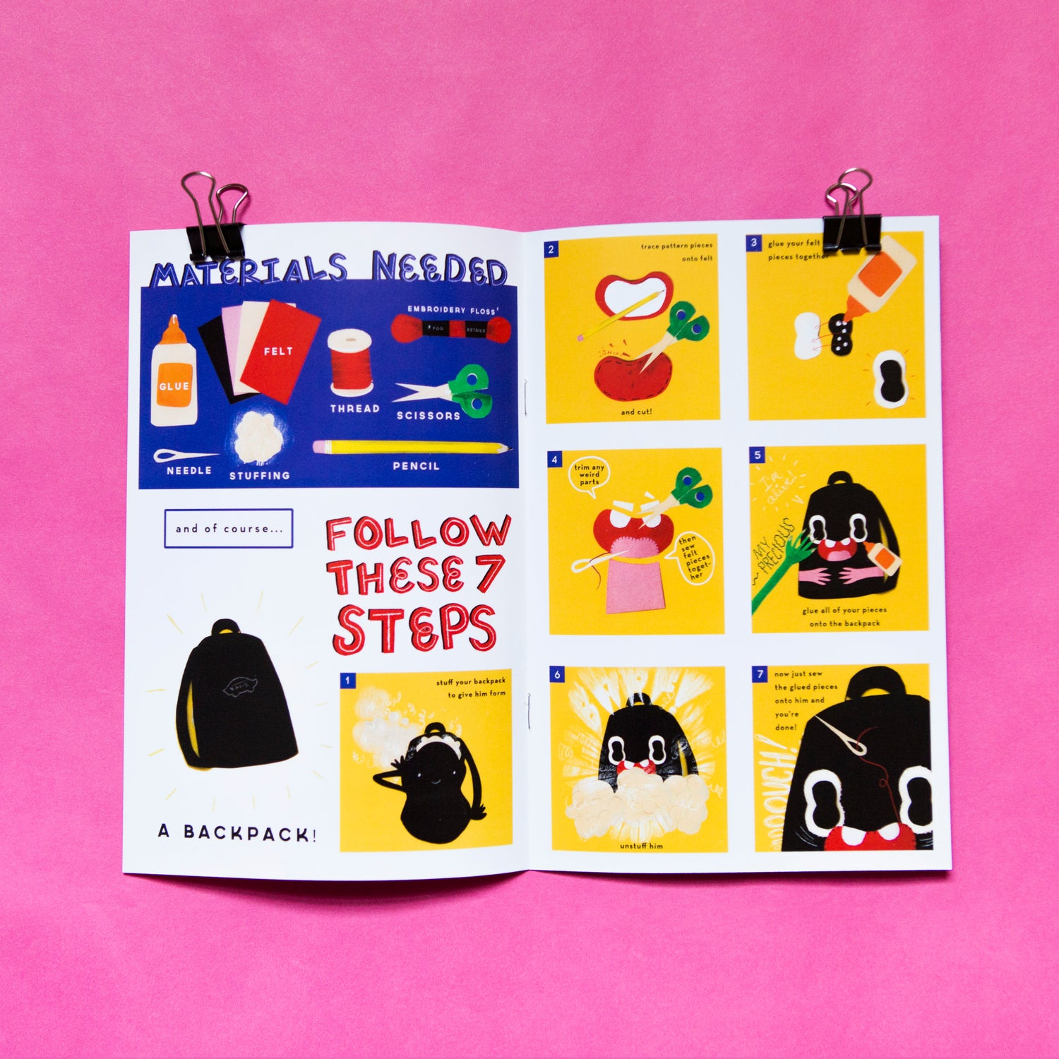 Image of DIY Backback Buddy zine
