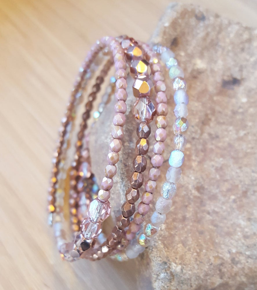 Image of Czech Bead Wrap Bracelet
