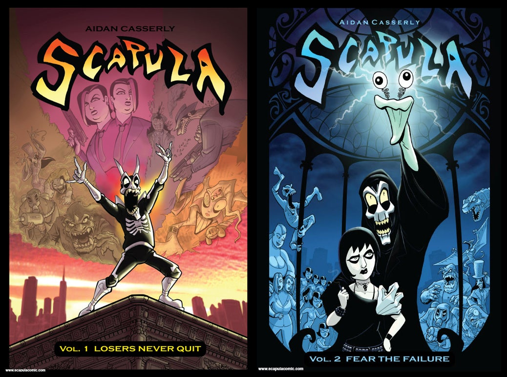 Image of SCAPULA Vol.1 Losers Never Quit and SCAPULA Vol.2 Fear the Failure