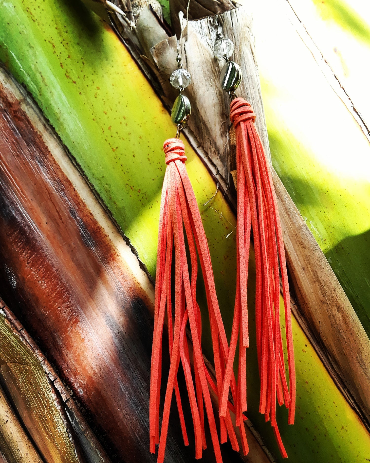 Image of Suede Tassel Earrings