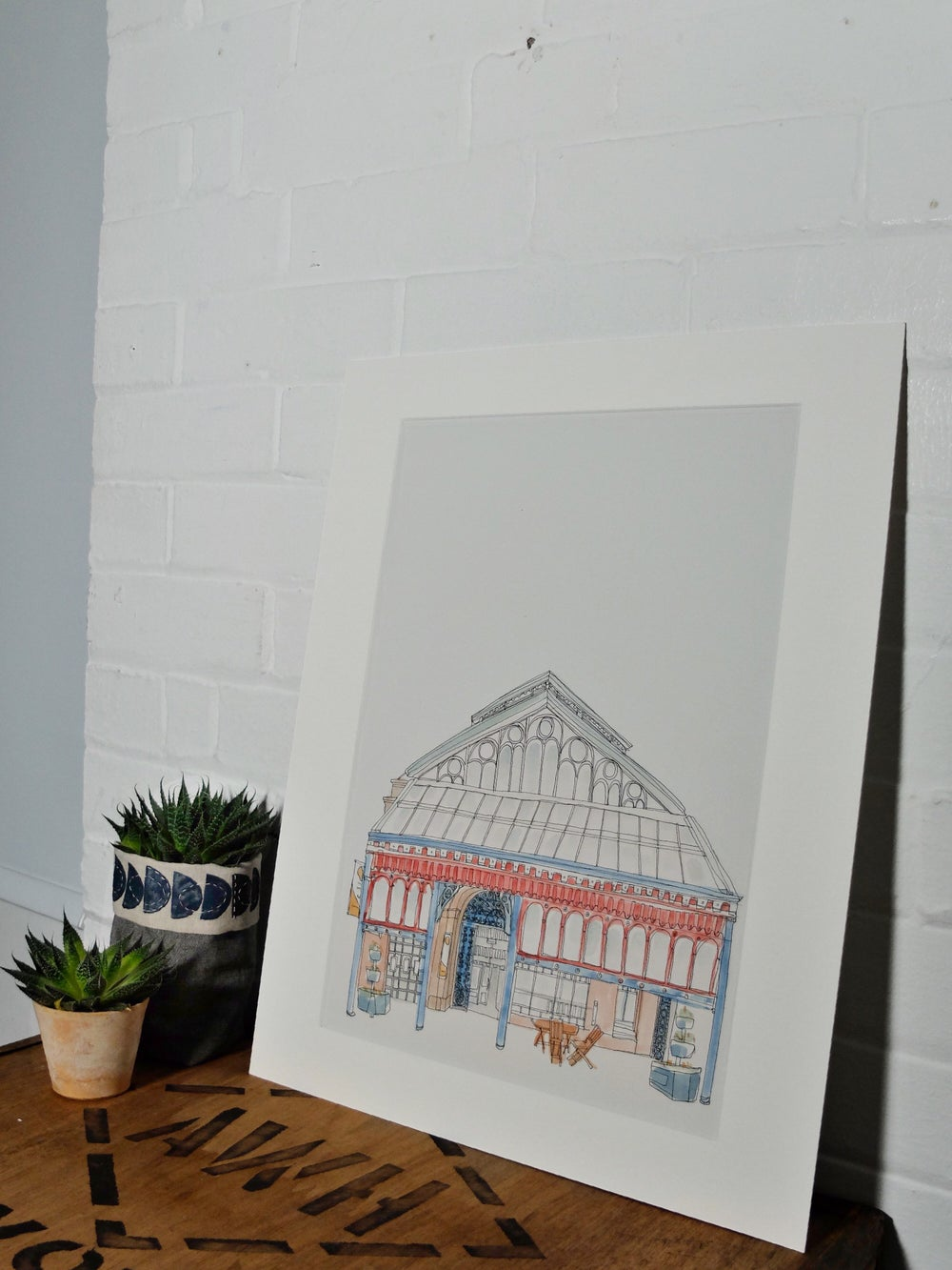 Image of Manchester Craft and Design centre - A3 Individually hand painted, limited edition print.
