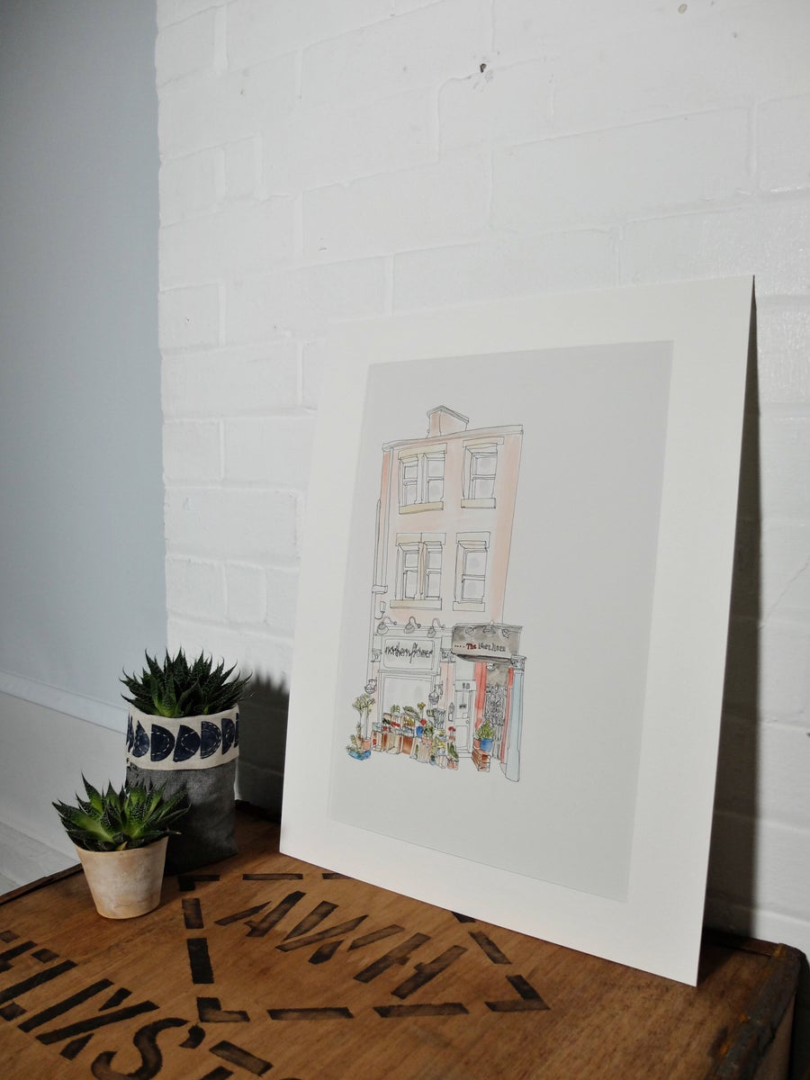 Image of Northern flower and The Northern- A3 individually hand painted limited edition print