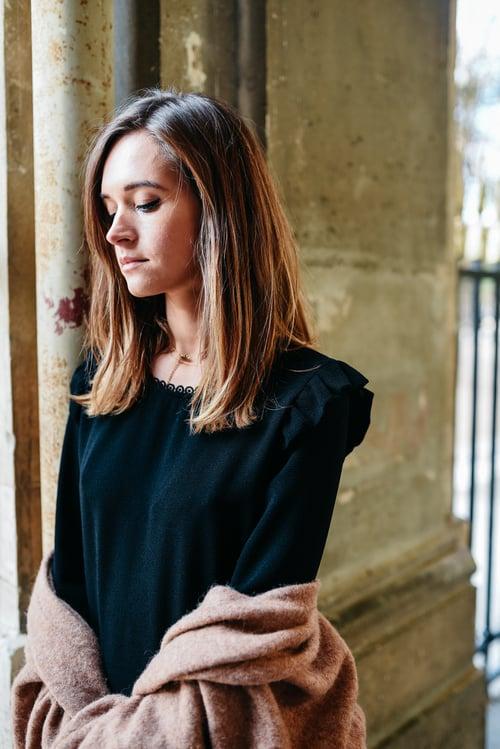 Image of BLOUSE SOPHIA - NOIR