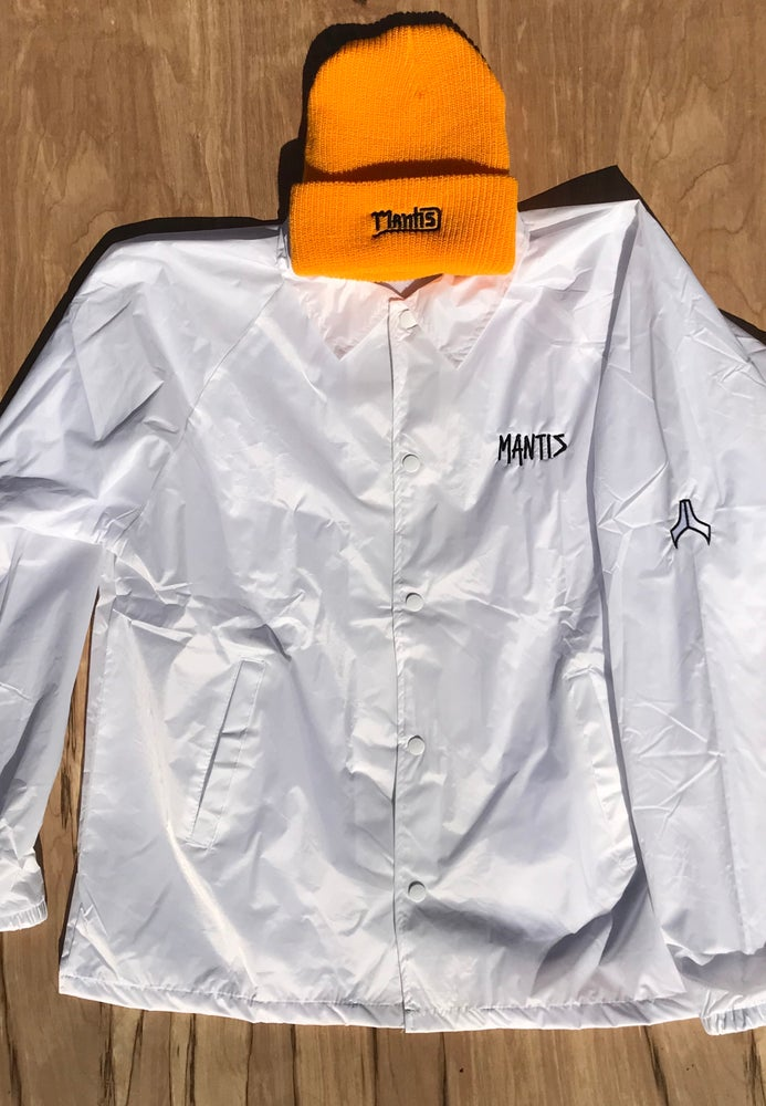 Image of Mantis Team coaches jacket white snowboard jacket