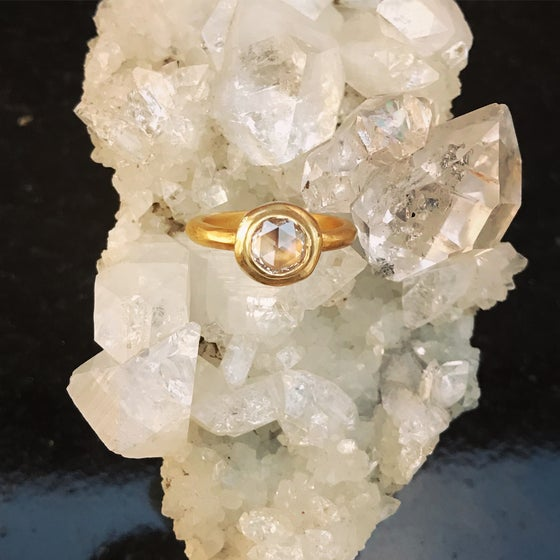 Image of Rose Cut Multi faceted ring
