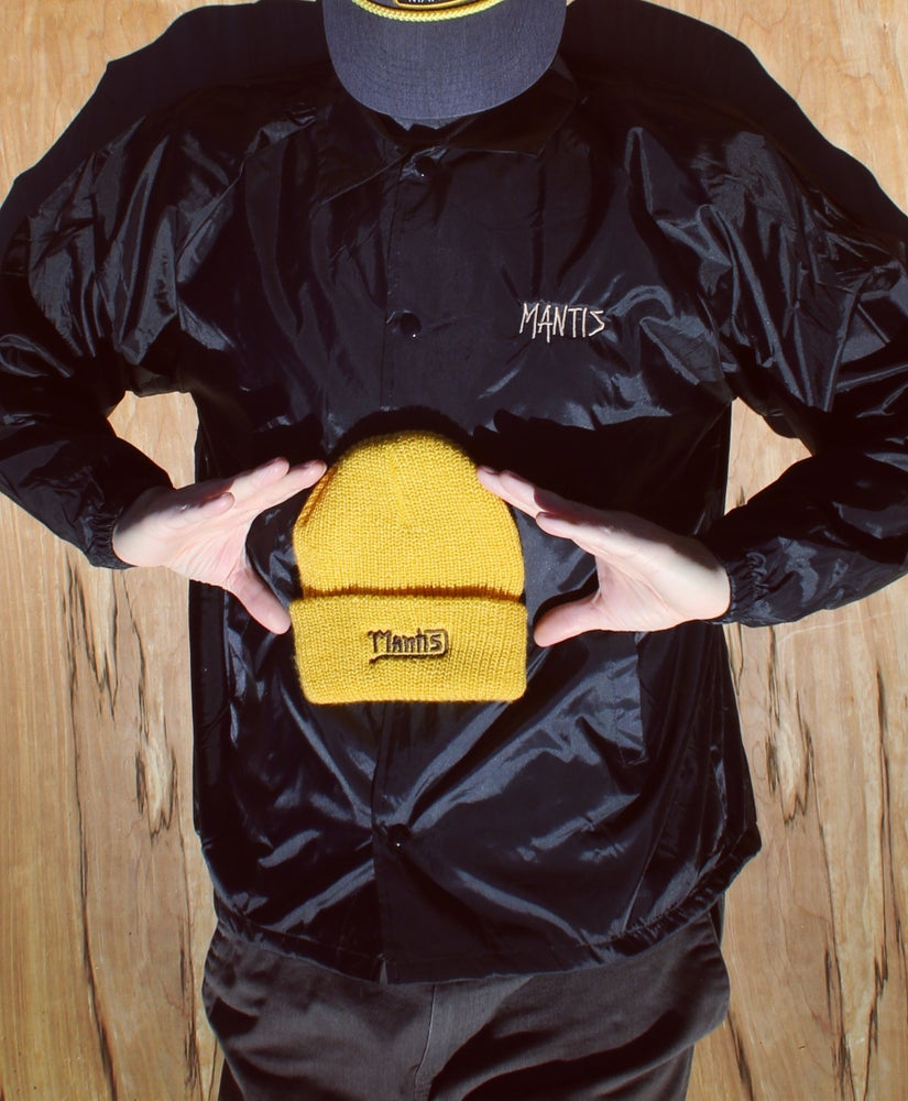 Image of Mantis Team coaches jacket black & tan