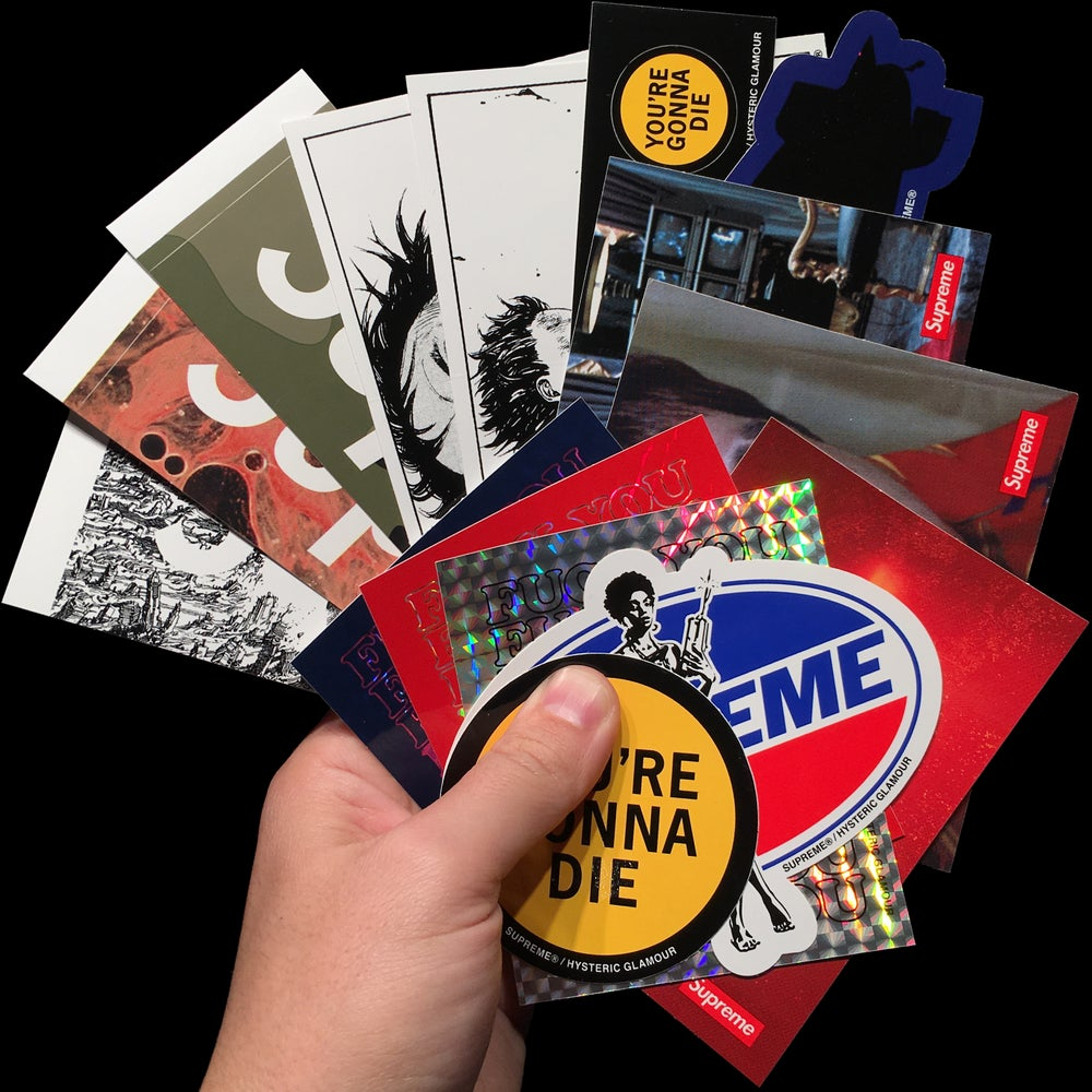 Image of 2017 FW Stickers (Hysteric Glamour, Akira, Scarface, Brooklyn, Andres Serrano)