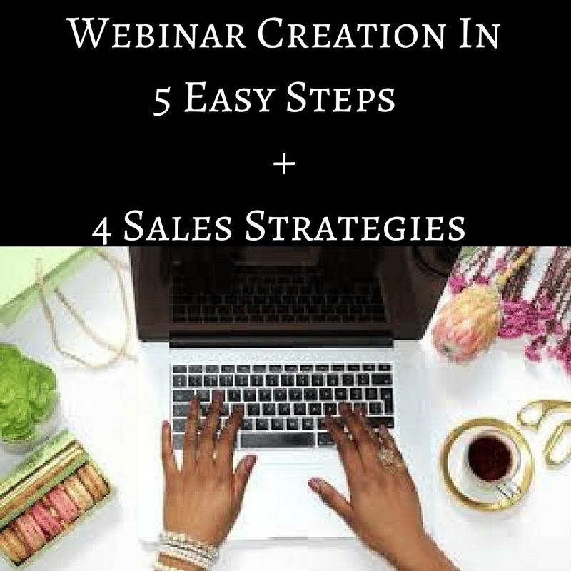 Image of Webinar Creation In 5 Easy Steps + 4 Sales Strategies Ebook