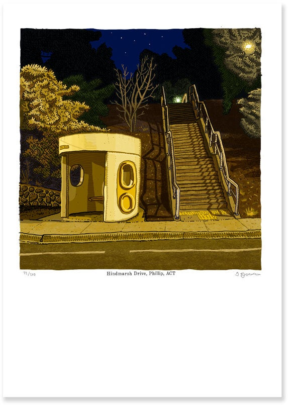 Image of Hindmarsh Drive, Phillip digital print