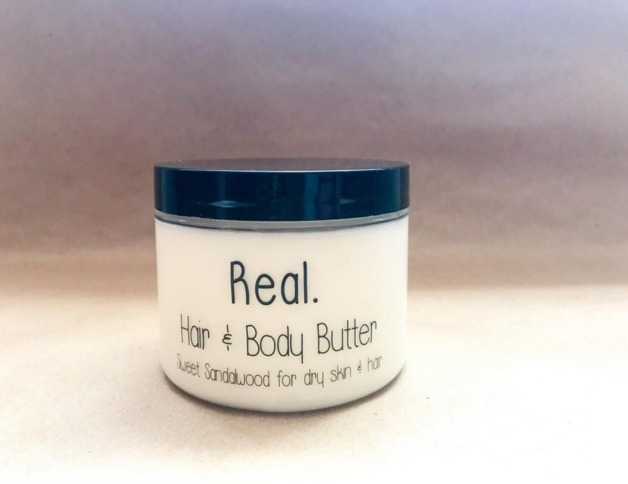 Image of 4 oz Real. Hair & Body Butter