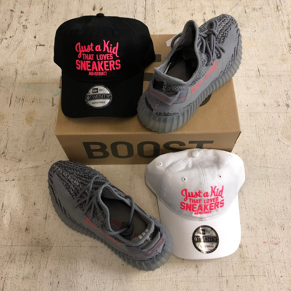 Image of JUST A KID THAT LOVES SNEAKERS DAD HAT