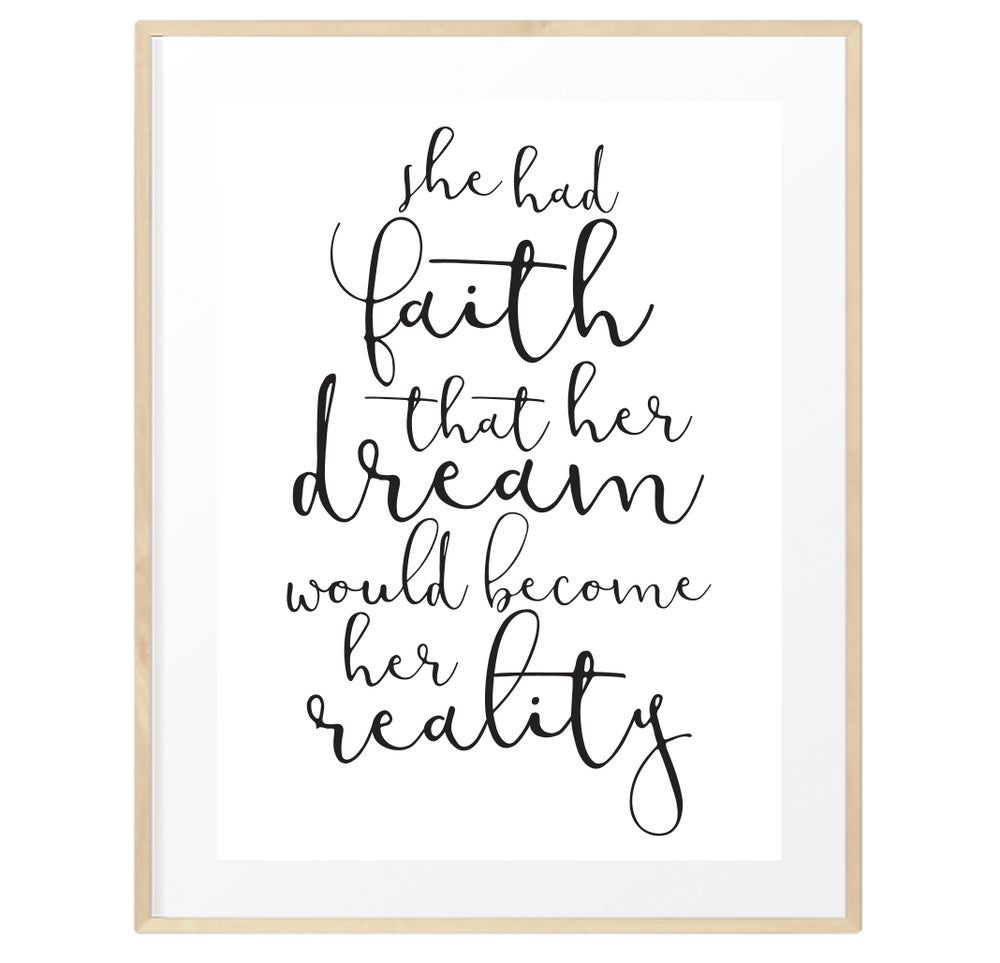 Image of She had faith print