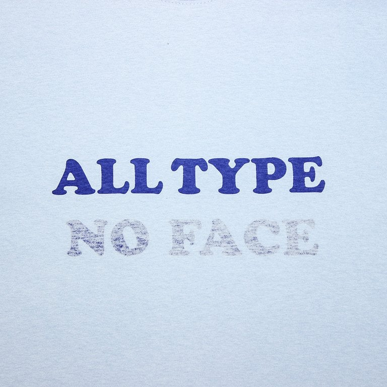 Image of ALL TYPE NO FACE - POWDER BLUE -COOPER BOLD