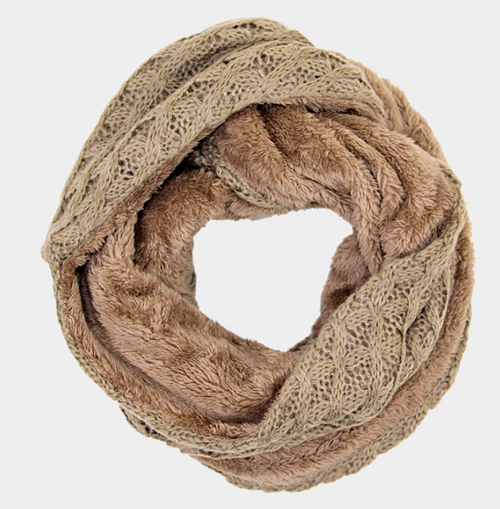Image of Cable & Fur Infinity Scarf