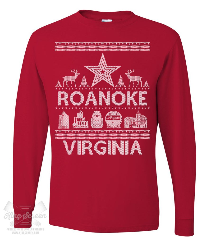 Image of ROANOKE VA HOLIDAY LONG SLEEVE T-SHIRT