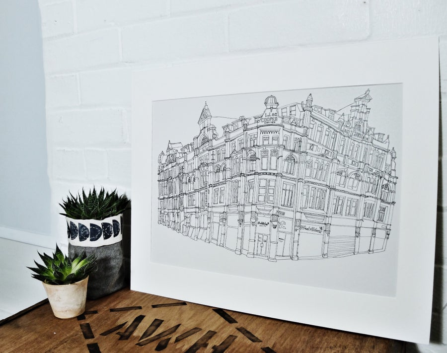 Image of Fred Aldous, Manchester- A3 limited edition print.