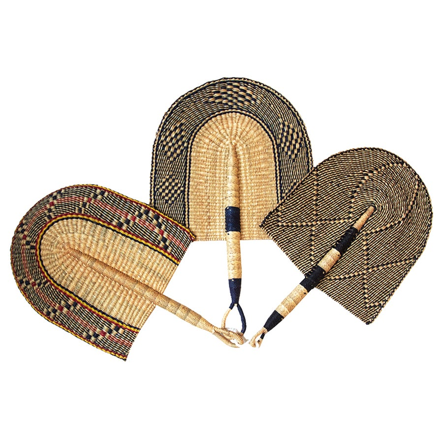 Image of Bolga Hand Fan Natural